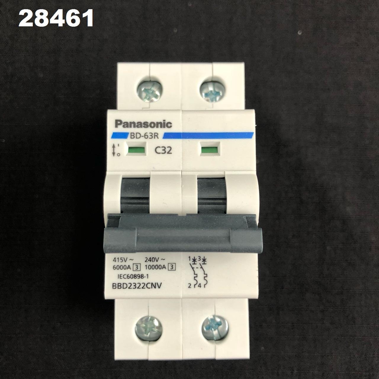 Cầu dao tự động loại DIN 2P2E 32A  BBD 2322CNV PANASONIC Panasonic