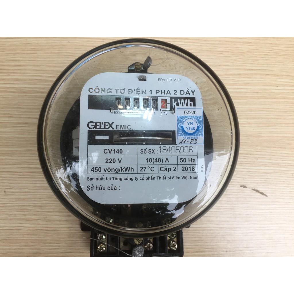Công tơ điện 1 pha 2 dây không kiểm định CV140-10(40)A Emic Emic