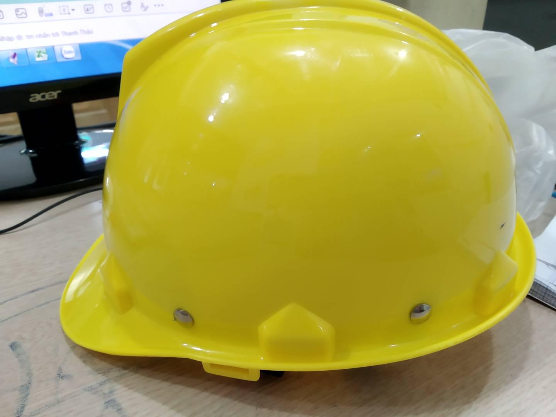Nón bảo hộ lao động N.002 màu vàng chanh Baobinhsafety Baobinhsafety